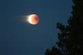 Moon blazing trough the sky