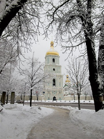 The bell tower of St. Sophia Cathedral (Kiev, Ukraine)