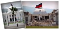 Haitian National Palace before and after the Jan 2010 earthquake