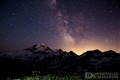 Perseid Meteor shower over Mt. Baker
