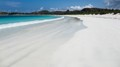 Pure white sand at Lombok