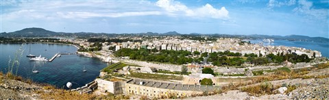 Old Corfu Town from the New Fortress