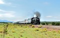 Last of the steam engines going from Williams, AZ to the Grand Canyon. Diesel was brought along in case it broke down.