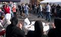 Syrian refugees after arriving to Denmark