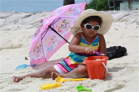 Zaara enjoying beach