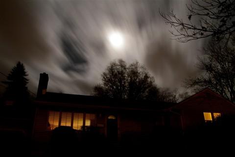 Hurricane Sandy overhead