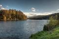 Turning Vltava river by Davle CZ