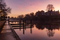 Dawn on the River Dee, Chester, UK, the day after Storm Deidre gave the country a lashing.