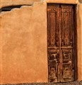 Adobe Wall and Door - Santa Fe, New Mexico