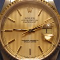 1998 Rolex With Champagne Tapestry Dial