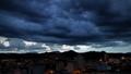 The storm advances over small Brazilian city