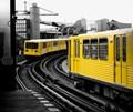 U-Bahn trains and DC3