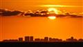sunset over Miami.