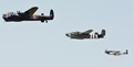 Lancaster, B-25 and Mustang