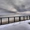 TOBAY SNOW FENCE SUNSET
