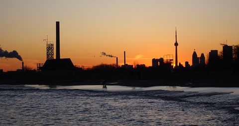 Sunset in Toronto