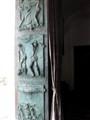 Bronze church door