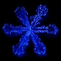 Snowflake in blue light