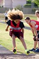 Middle School athlete competes in Long Jump.