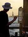 Painting the Statue of Liberty, NYC