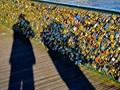 At Paris Pont des arts bridge