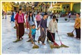 Shwedagon Pagoda cleaners