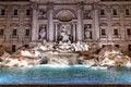 The Trevi fountain built in 1762. The fountain is at the junction of three roads (Tre Vie) from which is derives its name and it marks the terminal point of one of the aqueducts that supplied water to ancient Rome.