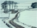 Rural Derbyshire in the snow
