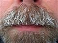 Cold mustache..
