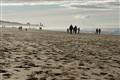 Zandvoort at the horizon (beach in The Netherlands)