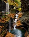 Watkins Glen Rainbow Falls In Autumn
