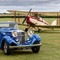 Railton and Jackaroo: A 1937 Railton driving in front of a Thruxton Jackaroo at Old Warden Aerodrome in the UK