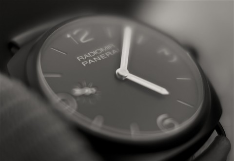 Panerai 504 wide open after sunset