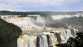 Huge waterfall  of Iguacu