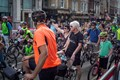 'RideLondon' is an annual festival of cycling held in London. Picture shows riders in Whitehall.