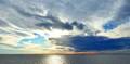 Multicoloured eve at the Baltic sea