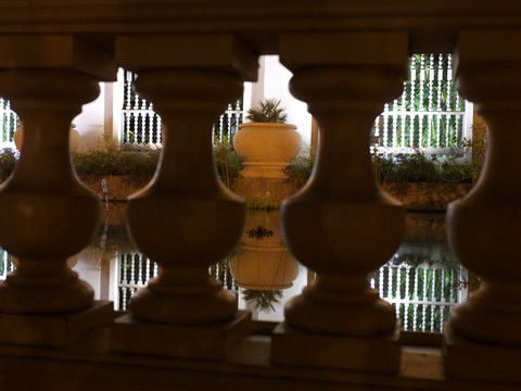 Reflection through Pillars