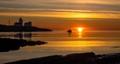 Golden sunrise Langesund