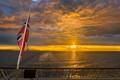 Sunset at the Norwegian coast