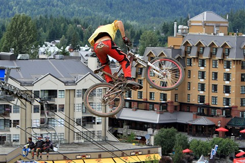 in the air at Whistler