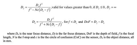 DoF Formula