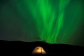 Tent under norther lights