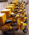 Yellow Cab delivery scooters