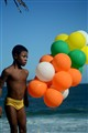 Boy with ballons