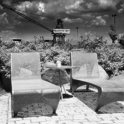 Chairs and Crane