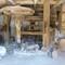 Medieval grist mill works: