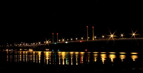 Kessock Bridge by Night Crop