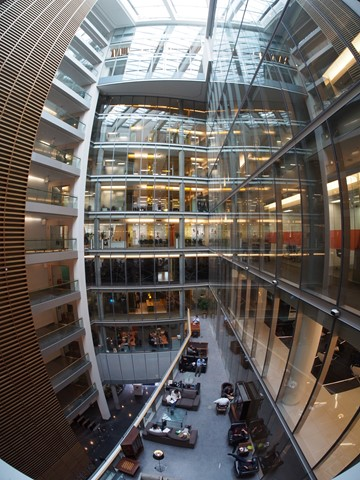 Fisheye View Inside The Bluefin Building