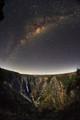 Wollomombi Falls at night