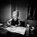 My granddaughter at work